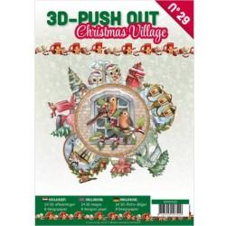 (3DPO10029)3D Push Out book 29 Christmas Village