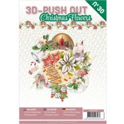 (3DPO10030)3D Push Out book 30 Christmas Flowers
