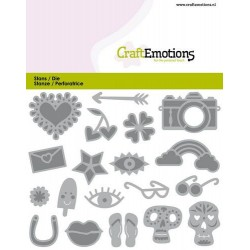 (115633/0836)CraftEmotions Die - Trendy booklet -card decorations Card 11x9cm - 82 mm