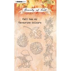 (SL-BF-STAMP62)Studio light SL Clear stamp Mushrooms & Pumpkins Beauty of Fall nr.62