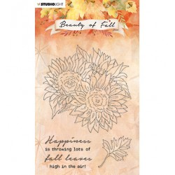 (SL-BF-STAMP63)Studio light SL Clear stamp Sunflowers Beauty of Fall nr.63