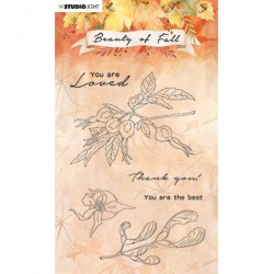 (SL-BF-STAMP64)Studio light SL Clear stamp Rose hips Beauty of Fall...