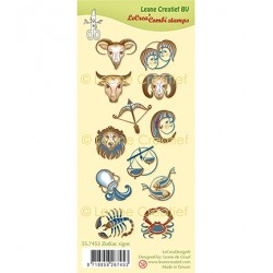 (55.7453)Clear Stamp Zodiac signs