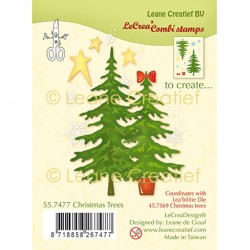 (55.7477)Clear Stamp Christmas Trees