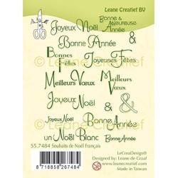 (55.7484)Clear Stamp Souhaits de Noël Français