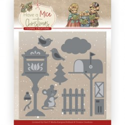 (YCD10251)Dies - Yvonne Creations - Have a Mice Christmas - Christmas Mouse Letters