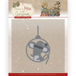 (YCD10253)Dies - Yvonne Creations - Have a Mice Christmas - Christmas Mouse Bauble