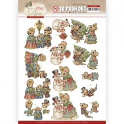 3D Push Out - Yvonne Creations - Have a Mice Christmas - Christmas Carol
