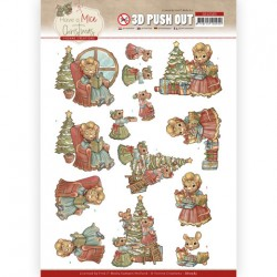 (SB10583)3D Push Out - Yvonne Creations - Have a Mice Christmas - Decorating
