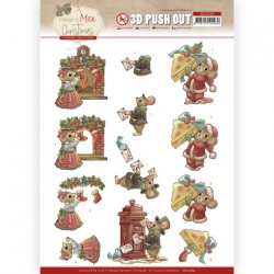(SB10584)3D Push Out - Yvonne Creations - Have a Mice Christmas - Sending Christmas Cards