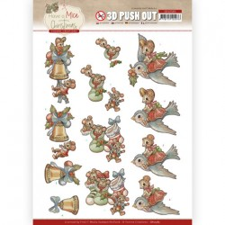 (SB10585)3D Push Out - Yvonne Creations - Have a Mice Christmas - Christmas Socks