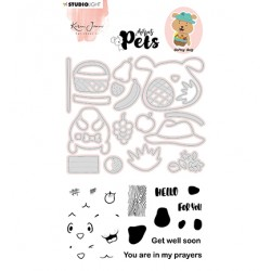 (KJ-MBKJ-SCD04)Studio Light KJ Stamp & Cutting Die, Building Pets Dog Missees nr.04