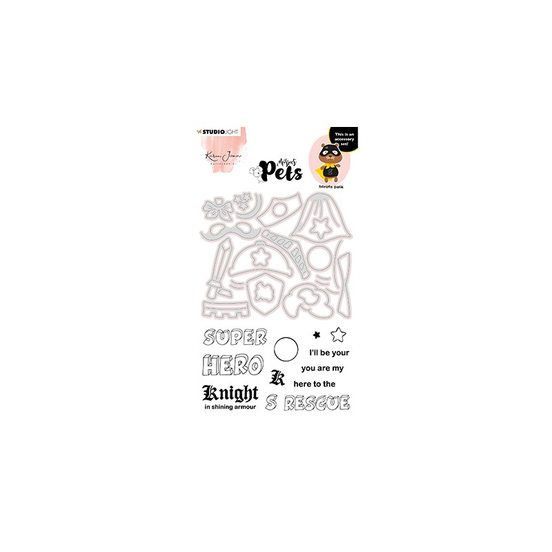 (KJ-MBKJ-SCD07)Studio Light KJ Stamp & Cutting Die, Building Pets Accessoires Missees nr.07