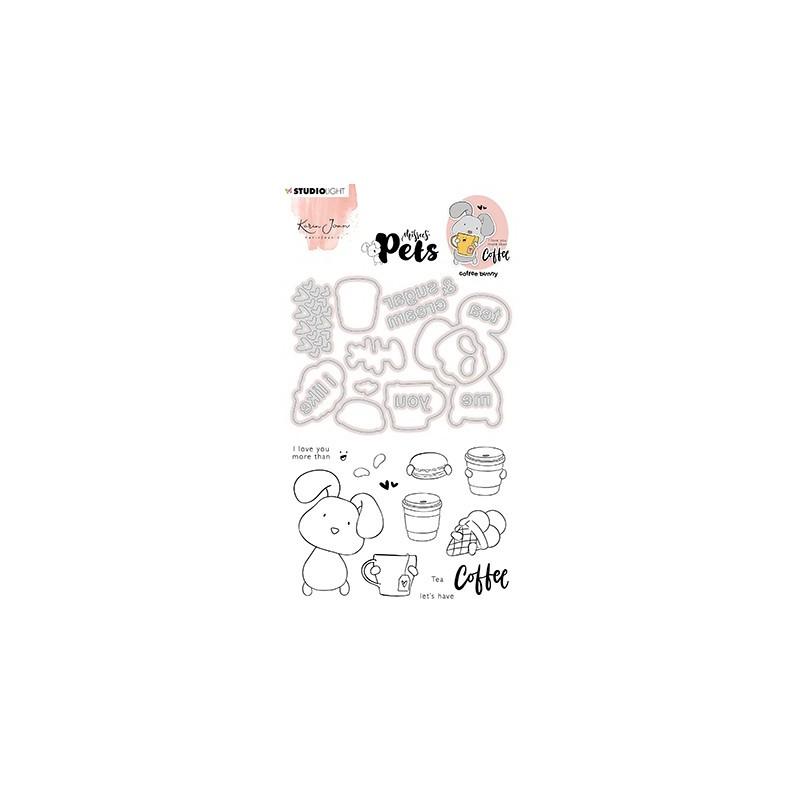 (KJ-MBKJ-SCD08)Studio Light KJ Stamp & Cutting Die, Complete Pets Bunny Missees nr.08