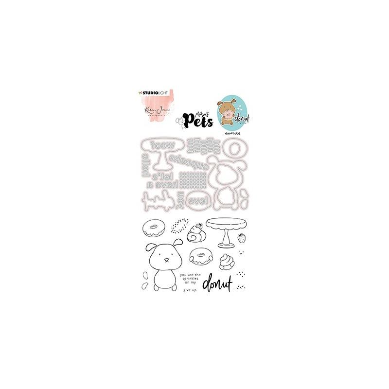 (KJ-MBKJ-SCD09)Studio Light KJ Stamp & Cutting Die, Complete Pets Dog Missees nr.09