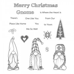 (STP-047)Spellbinders Holiday Gnomes Clear Stamp