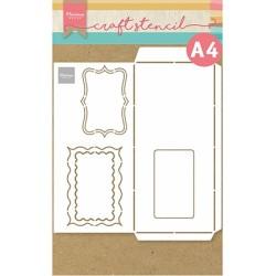 (PS8079)Marianne Design Craft stencil: Slimline envelope - A4