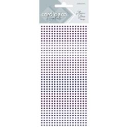 (CDEAS002)Card Deco Essentials - Adhesive Stones - Purple