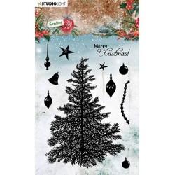 (SL-SJ-STAMP53)Studio light SL Clear stamp Build a Christmas tree Sending Joy nr.53
