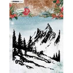 (SL-SJ-STAMP55)Studio light SL Clear stamp Background landscape Sending Joy nr.55