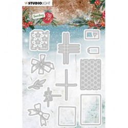 (SL-SJ-CD48)Studio Light SL Cutting Die Build a gift Sending Joy nr.48