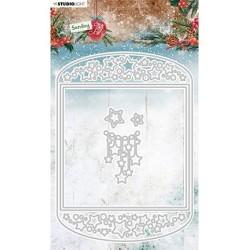(SL-SJ-CD54)Studio Light SL Cutting Die Card shape Sending Joy nr.54
