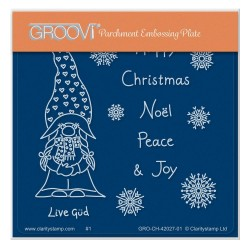(GRO-CH-42027-01)Groovi® Baby plate A6 BARBARA'S CHRISTMAS GÜD GNOME AND SENTIMENTS
