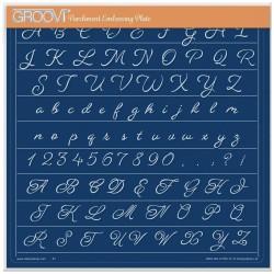 (GRO-WO-41785-15)Groovi Plate A4 LINDA WILLIAMS' GROOVI CONTOURS - ALPHABET