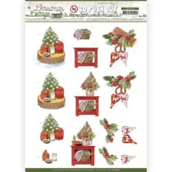 (SB10590)3D Push Out - Jeanine's Art - Christmas Cottage - Christmas Decoration