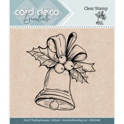 (CDECS068)Card Deco Essentials - Clear Stamps - Christmas Bell