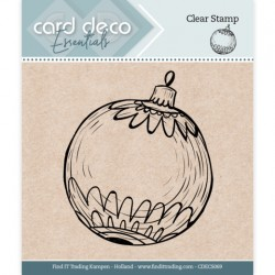 (CDECS069)Card Deco Essentials - Clear Stamps - Christmas Ball