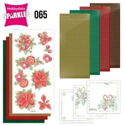 (SPDO065)Sparkles Set 65 - Jeanine's Art - Christmas Red Flowers