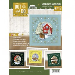 (DODOOC10013)Dot and Do on Colour 13 - Jeanine's Art - Christmas Cottage