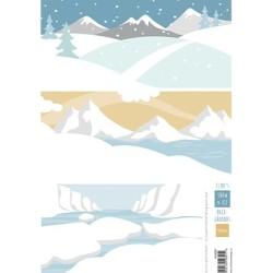 (AK0087)Eline's Eline's backgrounds Snow & Ice