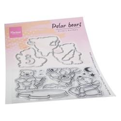 (ec0193)Clear Stamp & dies Eline's Polar bears