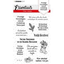 (SL-ES-STAMP85)Studio light SL Clear stamp Christmas Prettige Feestdagen NL Essentials nr.85