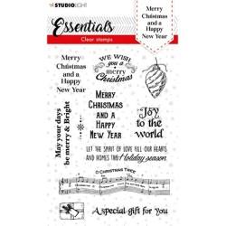 (SL-ES-STAMP86)Studio light SL Clear stamp Christmas Merry Christmas ENG Essentials nr.86