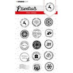 (SL-ES-STAMP92)Studio light SL Clear stamp Christmas Post stamps Essentials nr.92
