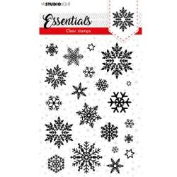 (SL-ES-STAMP96)Studio light  SL Clear stamp Christmas Snowflakes background Essentials nr.96