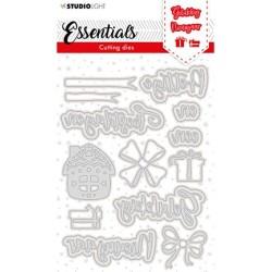 (SL-ES-CD118)Studio Light SL Cutting Die Christmas Prettige Feestdagen NL 3 Essentials nr.118