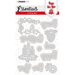 (SL-ES-CD120)Studio Light  SL Cutting Die Christmas Merry Christmas ENG 3 Essentials nr.120
