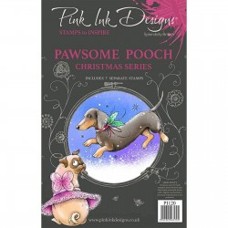 (PI120)Pink Ink Designs Clear stamp set Pawsome pooch