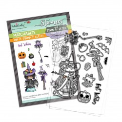 (PD8157)Polkadoodles Grab your Broomstick Clear Stamps