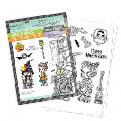 (PD8159)Polkadoodles Happy Howl-oween Clear Stamps