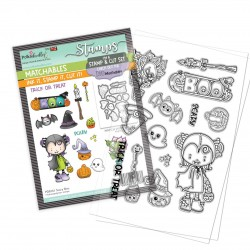 (PD8161)Polkadoodles Scary Boo Clear Stamps