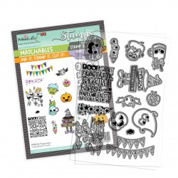 (PD8163)Polkadoodles Fang-tastic Clear Stamps