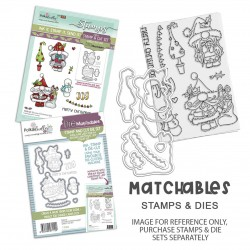 (PD8169)Polkadoodles Gnome Christmas Joy Clear Stamps