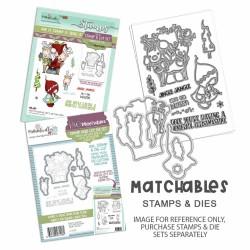 (PD8175)Polkadoodles Gnome Lets Get Blitzen Clear Stamps