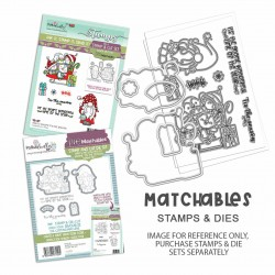 (PD8177)Polkadoodles Gnome Tis the Season Clear Stamps