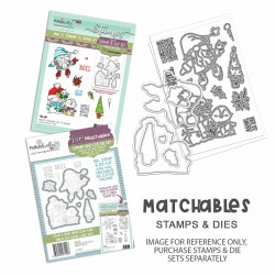 (PD8179)Polkadoodles Gnome Let it Snow Clear Stamps
